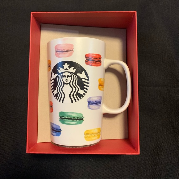 Starbucks French Macaroons Rainbow Mug 16 oz.